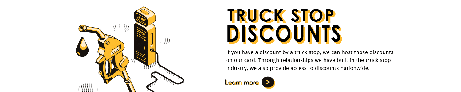 Truck stop discounts benefit available with MS Fleet Fuel Card